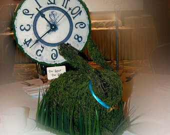 Rabbit Moss Centerpiece - Alice in Wonderland inspired