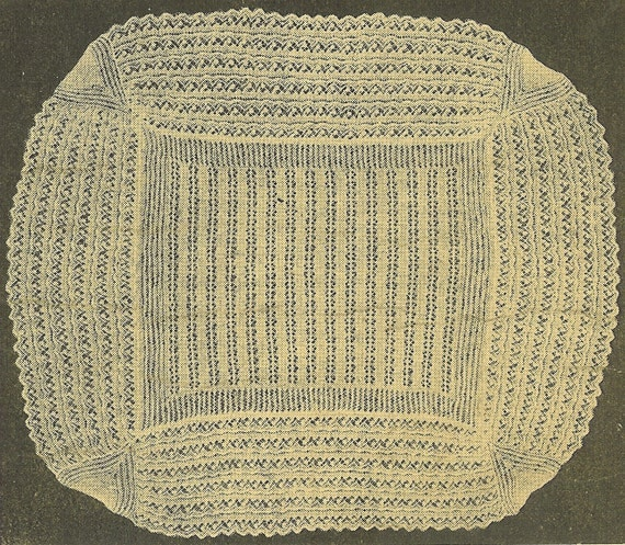 2 Ply Knitting Patterns : VCP121 2ply baby christening shawl vintage knitting pattern