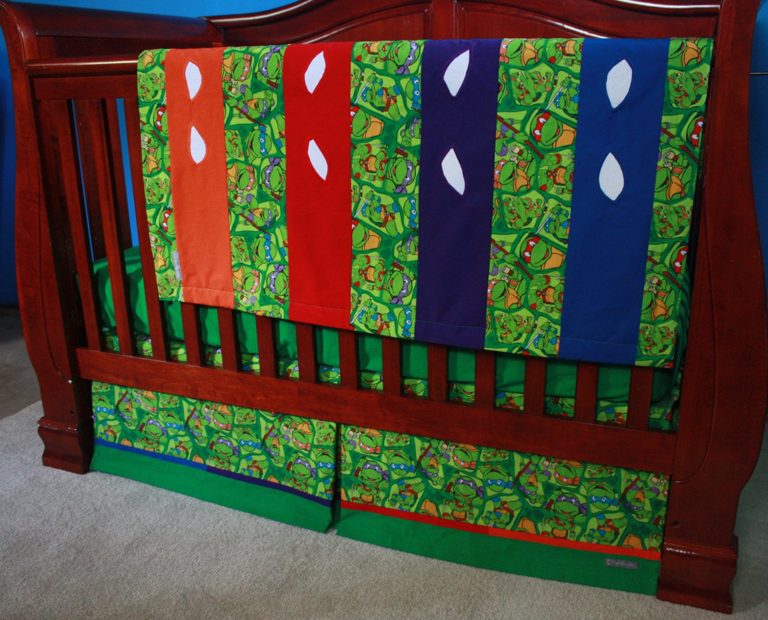 Teenage Mutant Ninja Turtle Baby Bedding By Bedhogshop On Etsy