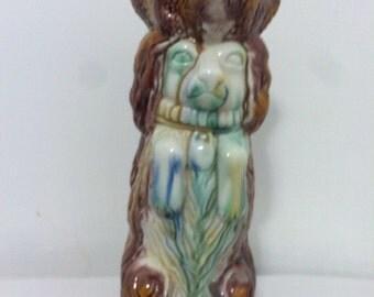 Majolica Ceramic Dog