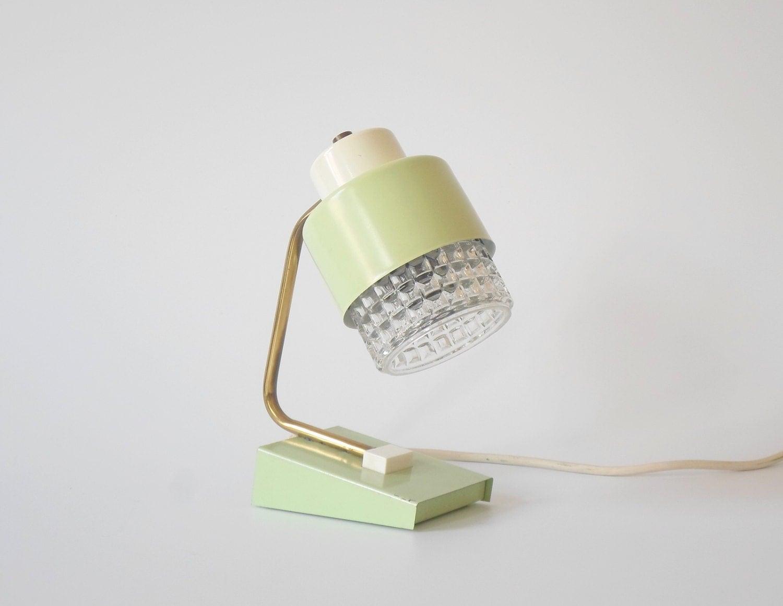 Vintage mint nachttischlampe lampe schreibtisch 50er 60er for Nachttischlampe vintage
