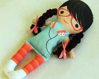 Organic Eco friendly soft handmade doll Lynn