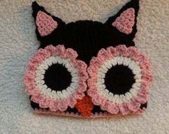 Adorable Crochet Owl Hat