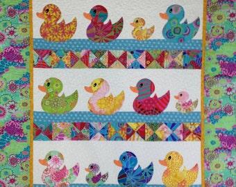 JUST DUCKY Baby Quilt Kit  -  Kaffe Fassett Collective Fabrics