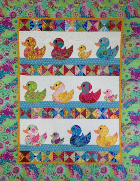 JUST DUCKY Baby Quilt Kit  -  Kaffe Fassett Collective Fabrics