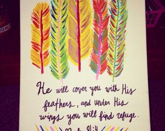 Psalm 91:4 Canvas