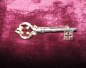 Ornate Gold Metal Key style pin