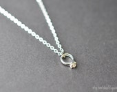engagement ring necklace tiny silver necklace wedding ring pendant silver ring necklace engagement ring promise ring - Wedding Ring Necklace