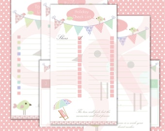 Spread Your Wings and Fly Downloadable Filofax pages personal size
