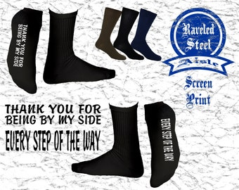 FATHER of the BRIDE Socks, Thank you for being by my side every step of the way, Wedding Socks, Father of the Bride Gift, Cold Feet