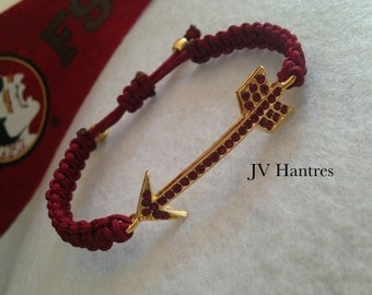 "FSU ""Fear the Spear"" (GARNET RHINESTONE) Game Day Bracelet"
