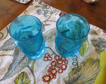 Funky Vintage Blue Tumblers