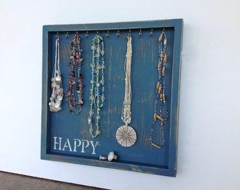 Jewelry organizer - necklace holder - shabby chic decor