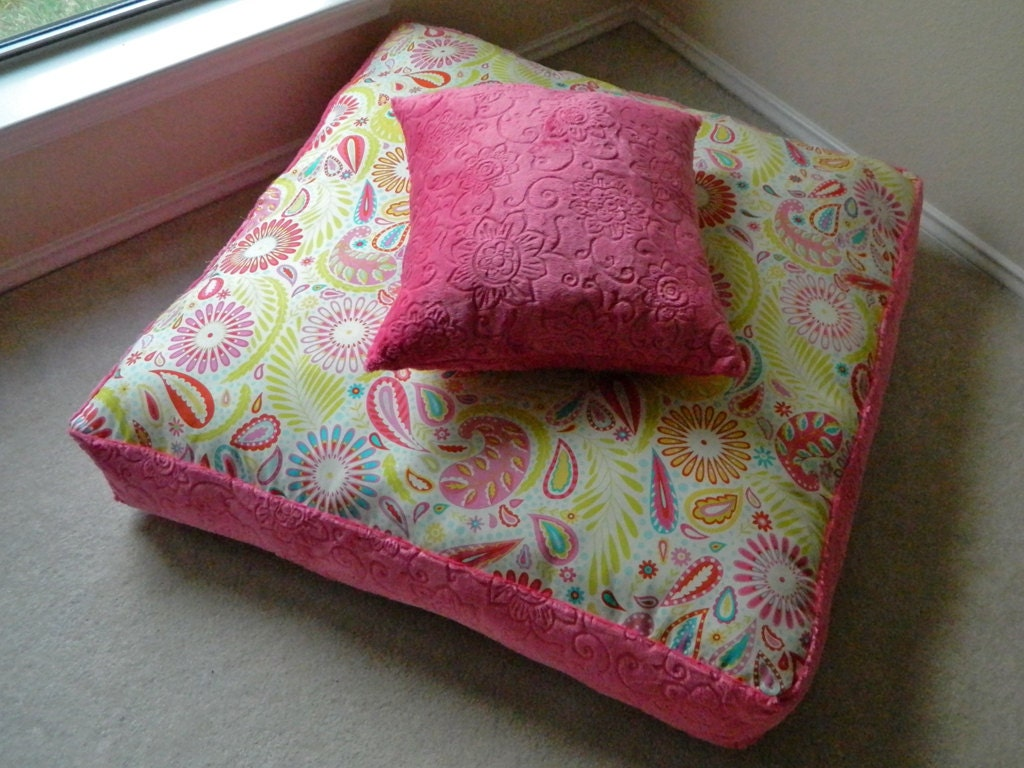 Kids Custom Floor Pillow Set Custom Made to Fit Your Little