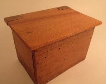 Reclaimed barn board box -  rustic box - smudge box