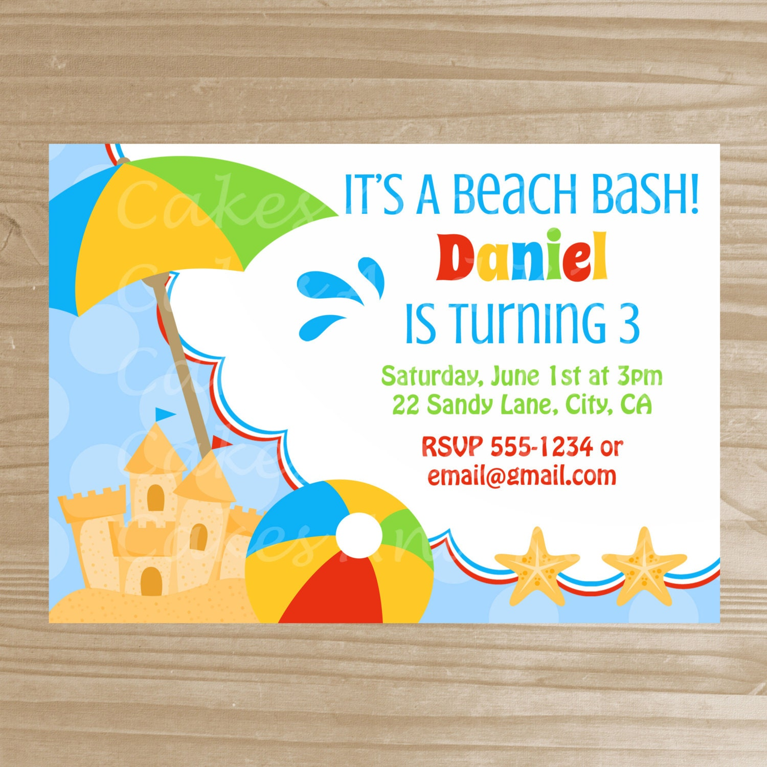 Luscious image pertaining to beach party invitations free printable