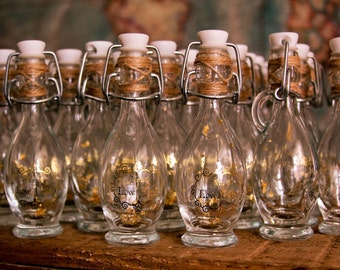 10 Fairytale Wedding Potion Bottle in Fairy style with delicate metallic finish