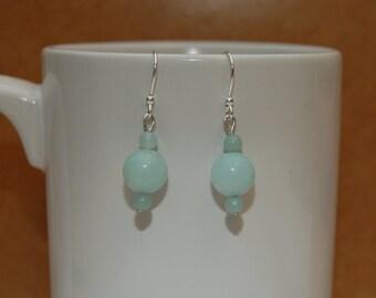 Amazonite Beaded Earrings.