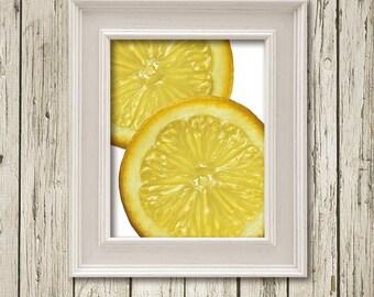 Lemon Citrus Kitchen Art Printable Instant Download Print