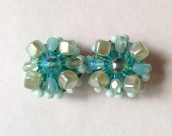 Sale: Vintage Blue Western Germany Earrings