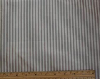 "Cream/Mauve Taffeta Stripes 100% Silk Fabric, 54"" Wide, By The Yard (SD-722A)"