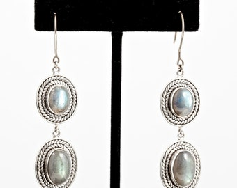 Labradorite 081 - Earrings - Sterling Silver