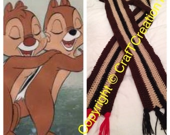 Chip and Dale inspired Chipmunk Scarf