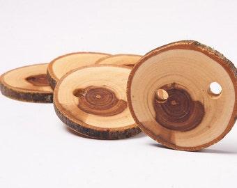 5 branch tree buttons, wooden buttons, handmade, knitting supplies
