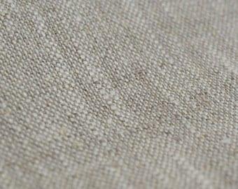 Fabric 100 percent Linen Flax Natural Cloth Undyed Unbleached W 59 inch Medium Weight Eco-friendly - Custom yardage