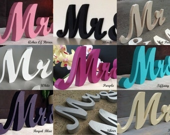 DIY, Painted or Glittery Mr & Mrs - sweetheart table signs