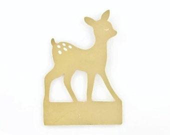 DEER PAPER CUTOUTS - Keyboard Deer Paper Cutout Note sheets  (5.5cm x 8cm)