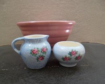 Vintage Sugar and Creamer Set from UK