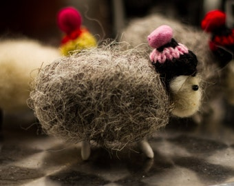 Needle felted sheep