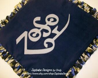 Led Zeppelin Zoso Blue Ruffle Pillow Case