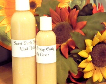 Sweet Curls Crazy Curly Hard Hold Elixir, 8 oz