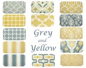Yellow Grey Pillow -  18 x 18, Mix & Match, One, Yellow Grey Pillows, Saffron Dove, Moroccan Geometric Pillow, Cushion Cover, Modern Decor