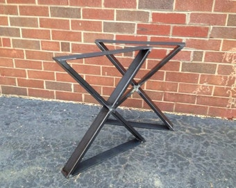 Metal Crossed Bench Legs