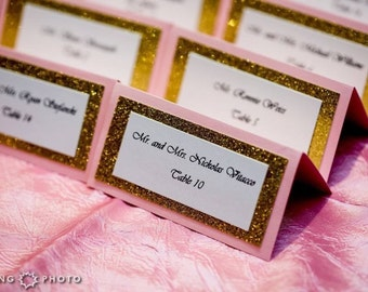 Sparkle Wedding Place and Seating Cards