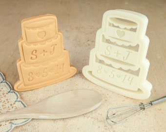 Wedding Cake Cookie Cutter DIY Personalized Name Favors
