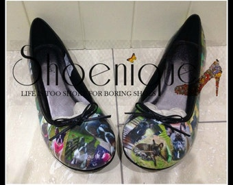 Personalised photo ballet pumps, shoes, heels - dogs
