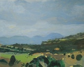 Southwest Landscape Painting on Paper  - Looming Rain - Utah Landscape  Shelley Hull