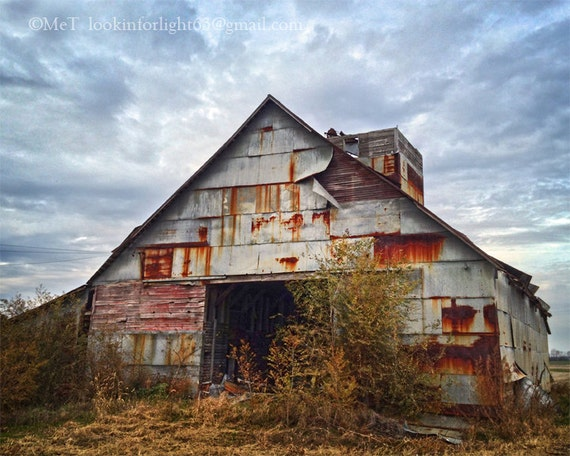 Barn Photography, Indiana Rustic Barn, Photo Art, Vintage Indiana Photo, Midwest Country Art, Midwestern Photo Art, Indiana Rustic Tin Barn