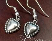 925 Sterling Silver Brighton-style Heart Earrings