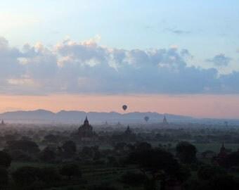Digital photography download. Magical Bagan Sunrise, Myanmar.