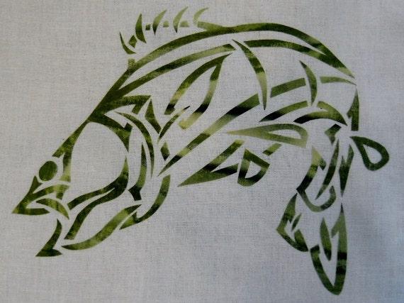 Celtic Bass Fish Knot Quilt Applique Pattern Design