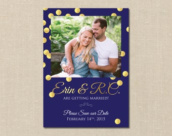 Custom Photo Save the Date - Printable - DIY - Card