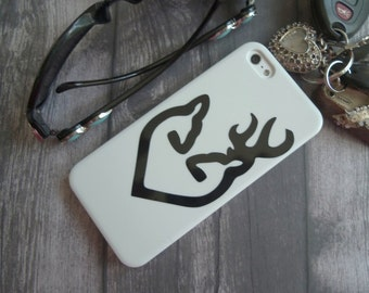 Buck and Doe Decal, Cell Phone Decal, Buck and Doe Heart, Doe and Buck Decal, BROWNING Inspired, decals