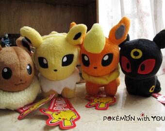 Umbreon + Eevee+ Flareon + Jolteon Plush Doll Pokemon / Pocket Monster