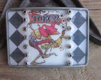 mens belt buckle belt buckle boho belt buckle The Joke gambler belt buckle ace of spades clubs diamonds vegas poker bohemian Belt Buckle