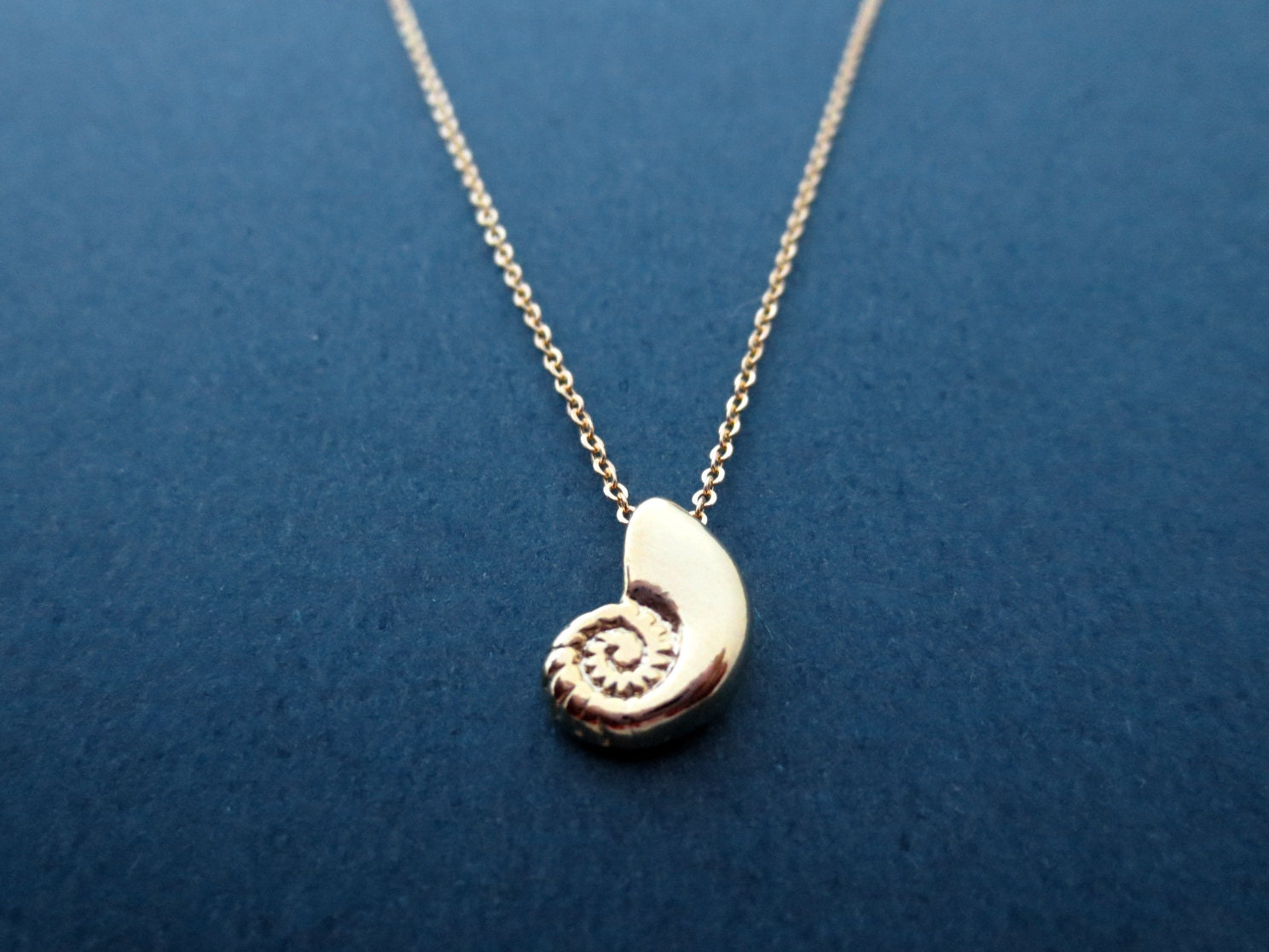 ariel voice seashell shell gold necklace ariel jewelry